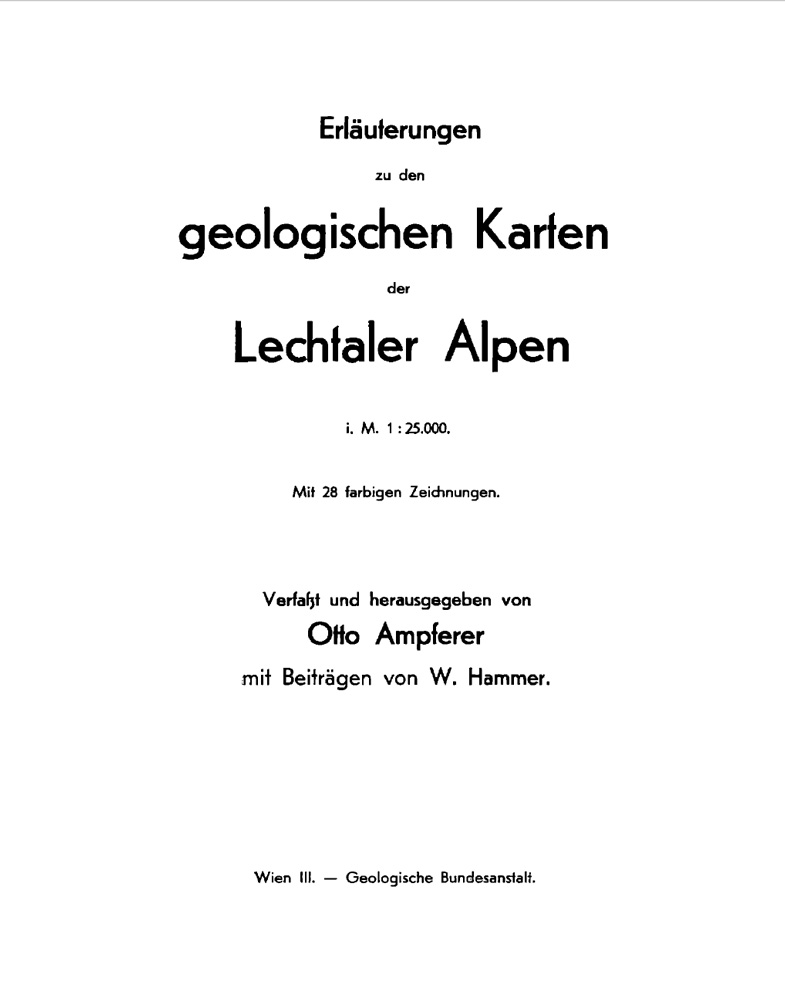 Erläuterungen zu den geologischen Karten der Lechtaler Alpen im Maßstab 1:25.000