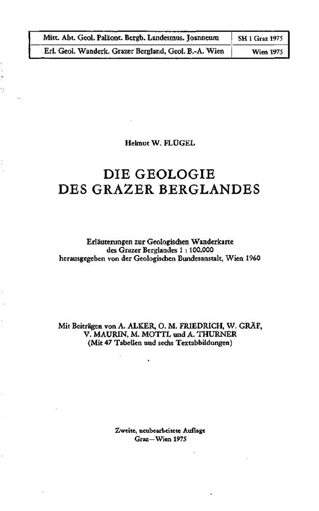 Die Geologie des Grazer Berglandes