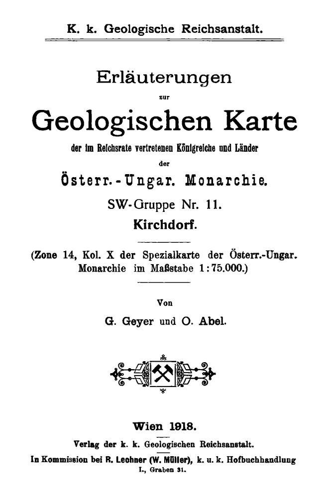 Erläuterungen zu Blatt 4852 Kirchdorf