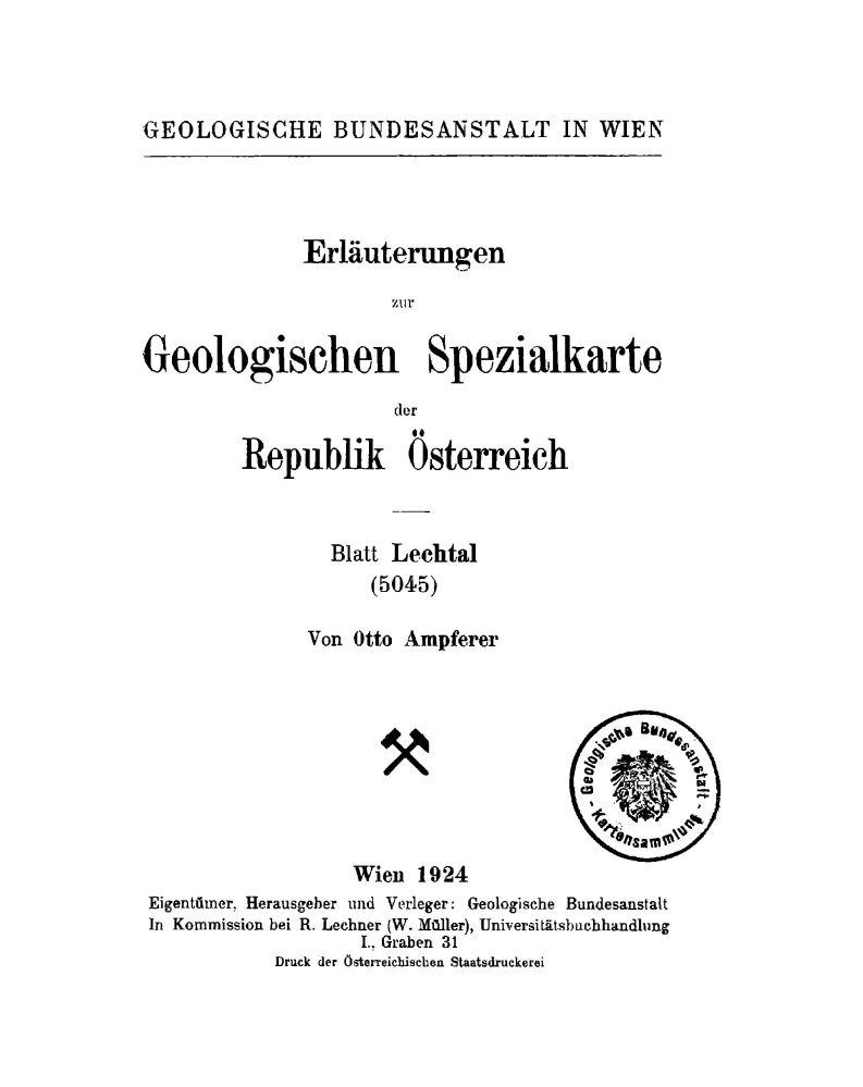 Erläuterungen zu Blatt 5045 Lechtal