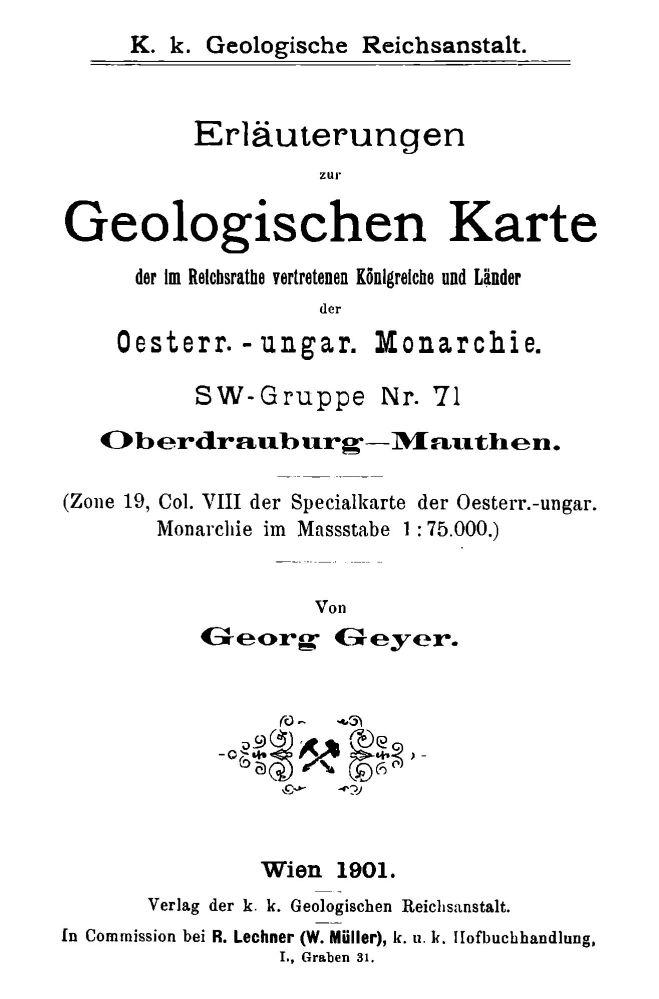 Erläuterungen zu Blatt 5350 Oberdrauburg-Mauthen