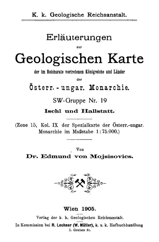 Erläuterungen zu Blatt 4951 Ischl Hallstatt