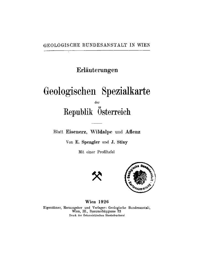 Erläuterungen zu Blatt 4954 Eisenerz Wildalpe Aflenz