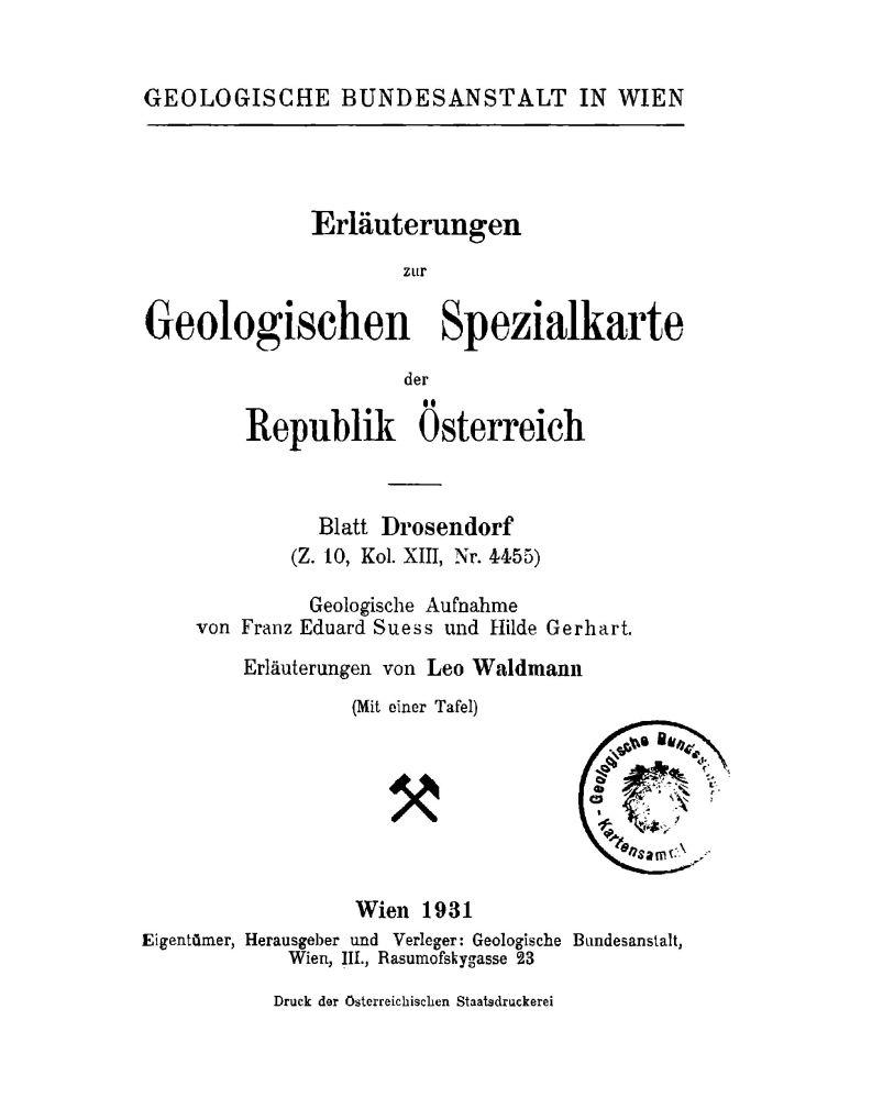 Erläuterungen zu Blatt 4455 Drosendorf