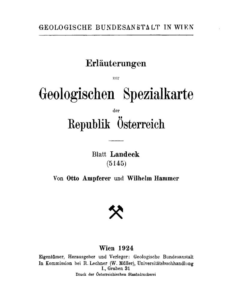 Erläuterungen zu Blatt 5145 Landeck