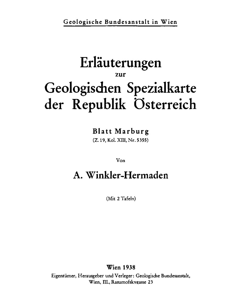 Erläuterungen zu Blatt 5355 Marburg