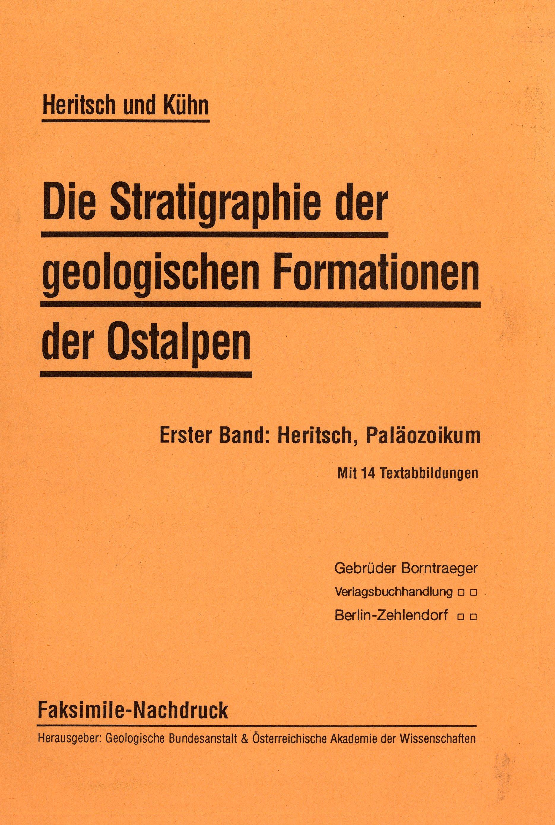Die Stratigraphie der geologischen Formationen der Ostalpen