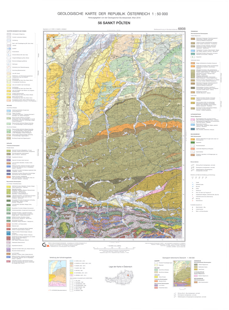 Kombination Karte und Erläuterungen: 56 St.Pölten