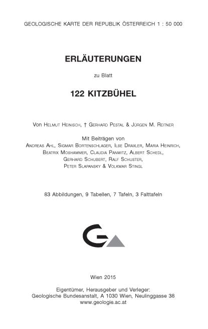 Erläuterungen zu Blatt 122 Kitzbühel