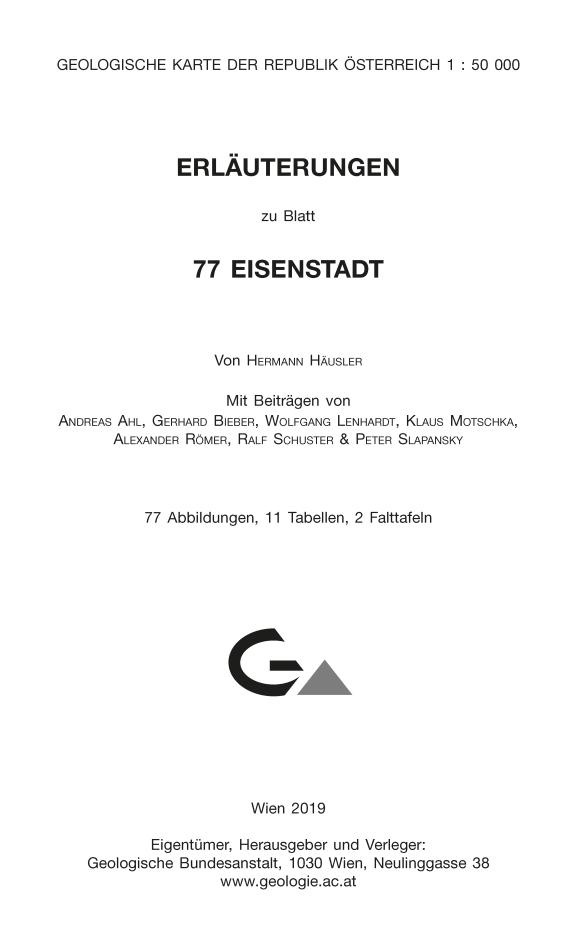 Erläuterungen zu Blatt 77 Eisenstadt