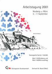 Arbeitstagung 2001 Neuberg an der Mürz
