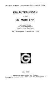 Erläuterungen zu Blatt 37 Mautern
