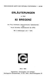Erläuterungen zu Blatt 82 Bregenz