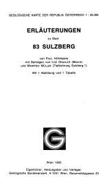Erläuterungen zu Blatt 83 Sulzberg