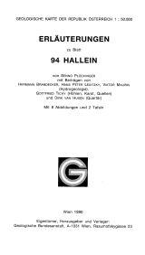 Erläuterungen zu Blatt 94 Hallein