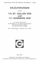 Erläuterungen zu Blatt 110-111 Sankt Gallen Süd-Dornbirn Süd