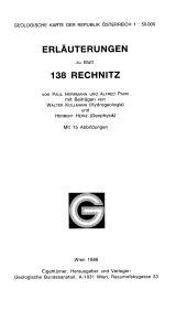 Erläuterungen zu Blatt 138 Rechnitz