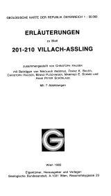 Erläuterungen zu Blatt 201-210 Villach-Aßling