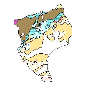 Kartographisches Modell 1:200.000 Eisenstadt (Stadt) - Geologie (Pol.Bez. 101)