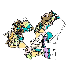 Kartographisches Modell 1:200.000 Eisenstadt-Umgebung - Geologie (Pol.Bez. 103)