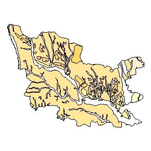 Kartographisches Modell 1:200.000 Güssing - Geologie (Pol.Bez. 104)