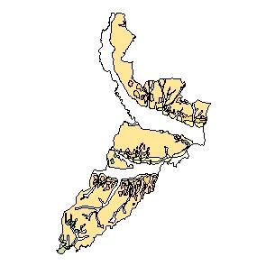 Kartographisches Modell 1:200.000 Jennersdorf - Geologie (Pol.Bez. 105)
