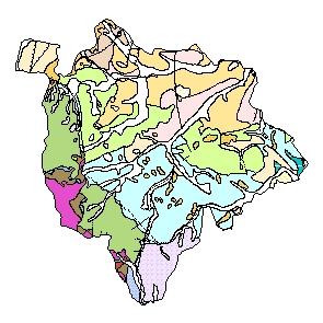 Kartographisches Modell 1:200.000 Mattersburg - Geologie (Pol.Bez. 106)