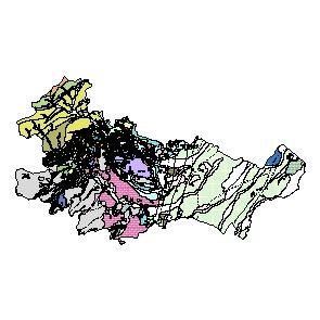 Kartographisches Modell 1:200.000 Baden - Geologie (Pol.Bez. 306)