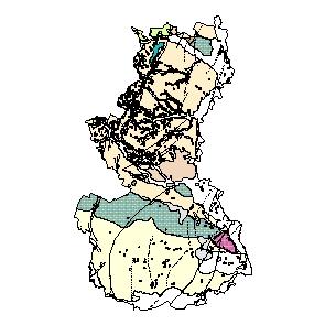 Kartographisches Modell 1:200.000 Gänserndorf - Geologie (Pol.Bez. 308)
