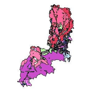 Kartographisches Modell 1:200.000 Gmünd - Geologie (Pol.Bez. 309)