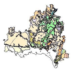 Kartographisches Modell 1:200.000 Korneuburg - Geologie (Pol.Bez. 312)