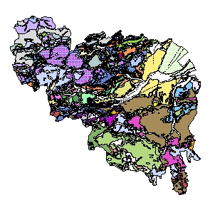 Kartographisches Modell 1:200.000 Neunkirchen - Geologie (Pol.Bez. 318)