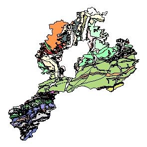 Kartographisches Modell 1:200.000 Sankt Pölten (Land) - Geologie (Pol.Bez. 319)
