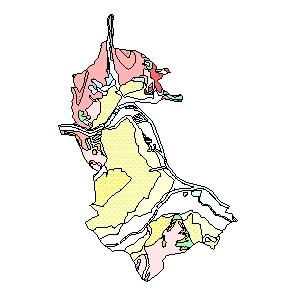 Kartographisches Modell 1:200.000 Linz (Stadt) - Geologie (Pol.Bez. 401)