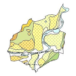 Kartographisches Modell 1:200.000 Steyr (Stadt) - Geologie (Pol.Bez. 402)