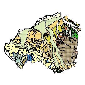 Kartographisches Modell 1:200.000 Braunau am Inn - Geologie (Pol.Bez. 404)
