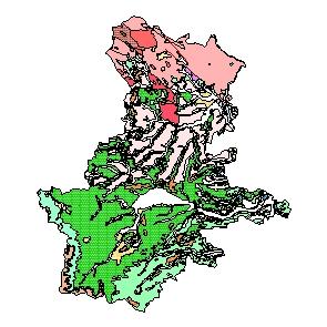 Kartographisches Modell 1:200.000 Grieskirchen - Geologie (Pol.Bez. 408)