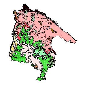 Kartographisches Modell 1:200.000 Schärding - Geologie (Pol.Bez. 414)