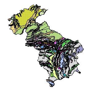 Kartographisches Modell 1:200.000 Steyr-Land - Geologie (Pol.Bez. 415)