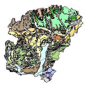 Kartographisches Modell 1:200.000 Vöcklabruck - Geologie (Pol.Bez. 417)