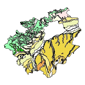 Kartographisches Modell 1:200.000 Wels-Land - Geologie (Pol.Bez. 418)