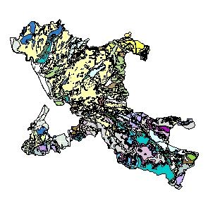 Kartographisches Modell 1:200.000 Salzburg-Umgebung - Geologie (Pol.Bez. 503)