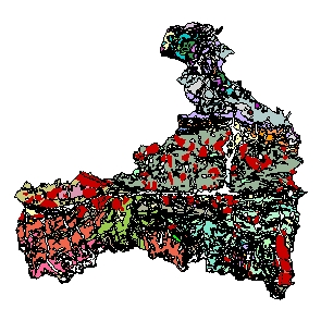 Kartographisches Modell 1:200.000 Zell am See - Geologie (Pol.Bez. 506)