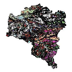 Kartographisches Modell 1:200.000 Bludenz - Geologie (Pol.Bez. 801)