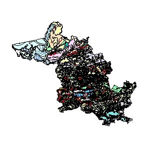 Kartographisches Modell 1:200.000 Bregenz - Geologie (Pol.Bez. 802)
