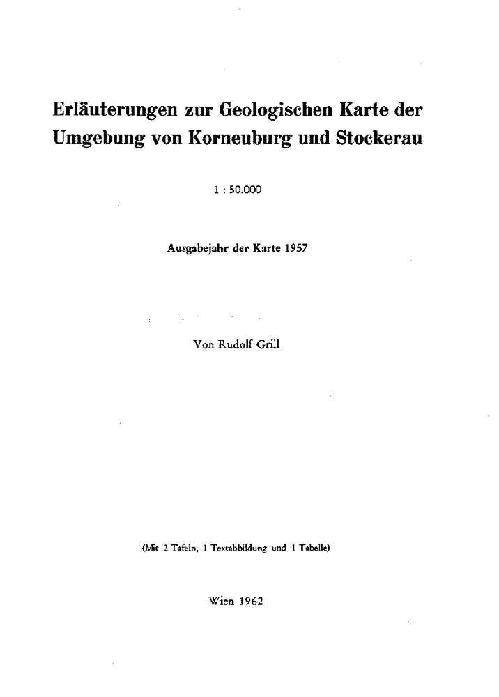 Erläuterungen zur Geologische Karte der Umgebung von Korneuburg und Stockerau 1:50.000