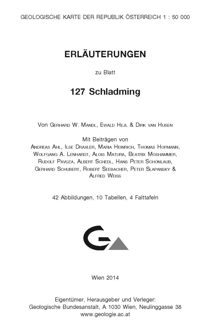 Erläuterungen zu Blatt 127 Schladming