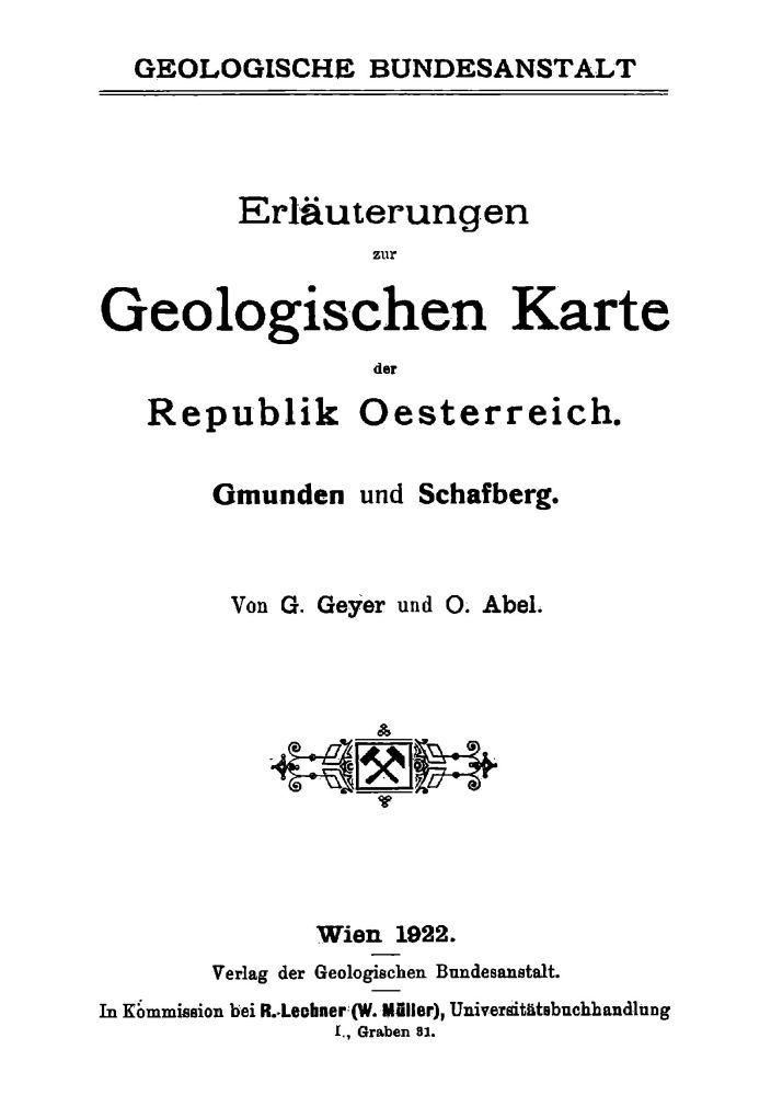 Erläuterungen zu Blatt 4851 Gmunden Schafberg