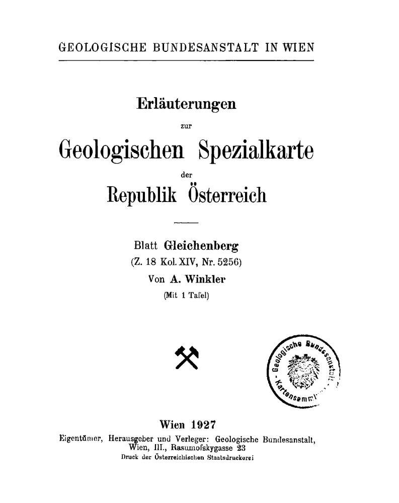 Erläuterungen zu Blatt 5256 Gleichenberg