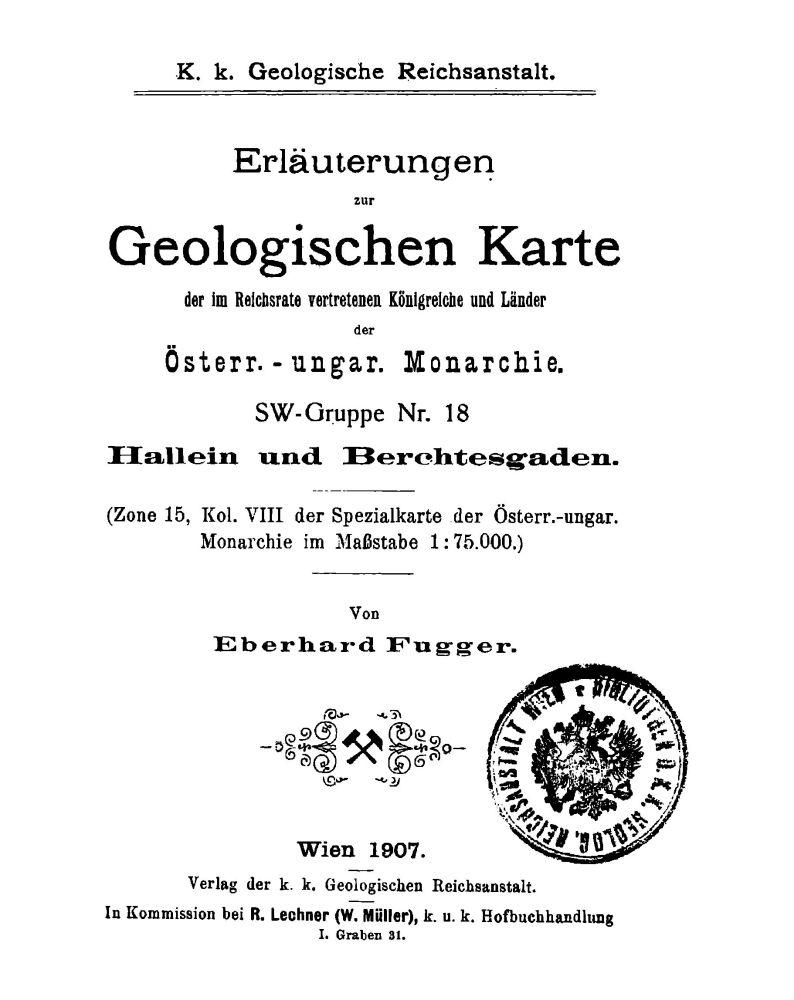 Erläuterungen zu Blatt 4950 Hallein Berchtesgaden